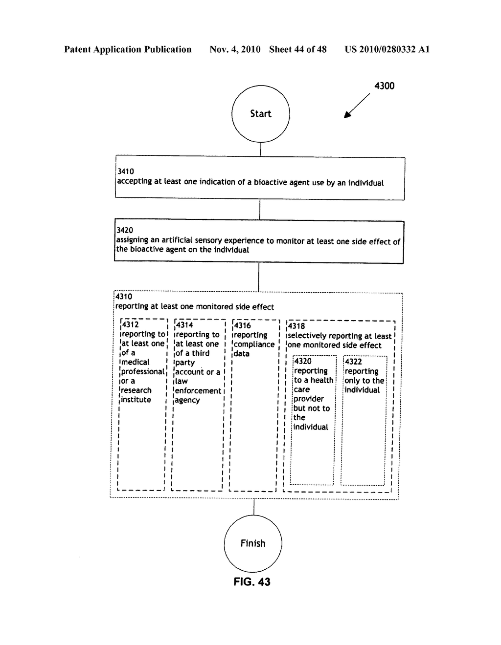 Methods and systems for monitoring bioactive agent use - diagram, schematic, and image 45