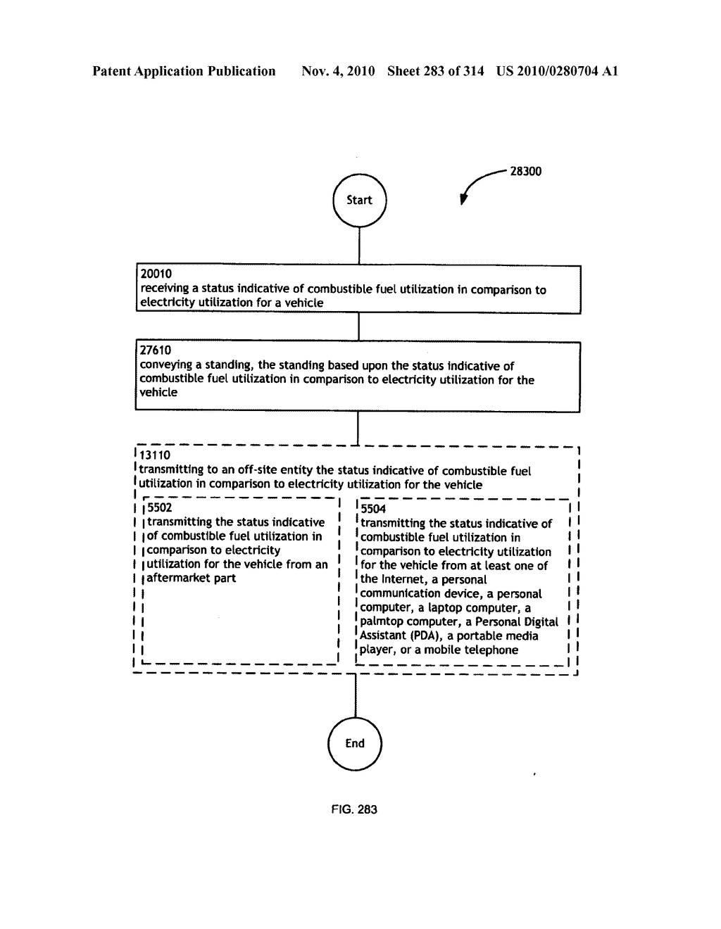 Awarding standings to a vehicle based upon one or more fuel utilization characteristics - diagram, schematic, and image 284