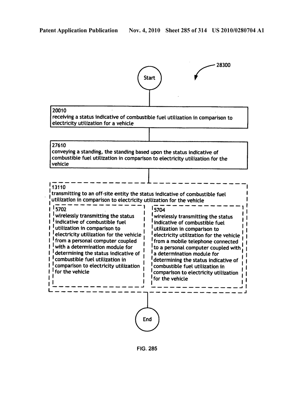 Awarding standings to a vehicle based upon one or more fuel utilization characteristics - diagram, schematic, and image 286