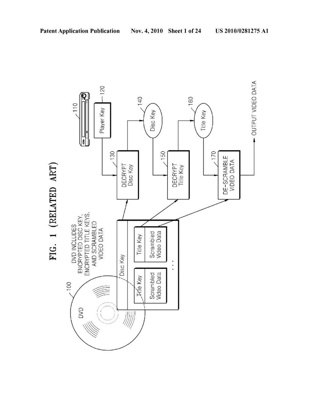 METHOD OF RECORDING CONTENT ON DISC, METHOD OF PROVIDING TITLE KEY, APPARATUS FOR RECORDING CONTENT ON DISC, AND CONTENT PROVIDING SERVER - diagram, schematic, and image 02
