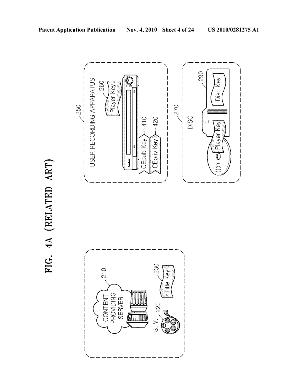 METHOD OF RECORDING CONTENT ON DISC, METHOD OF PROVIDING TITLE KEY, APPARATUS FOR RECORDING CONTENT ON DISC, AND CONTENT PROVIDING SERVER - diagram, schematic, and image 05