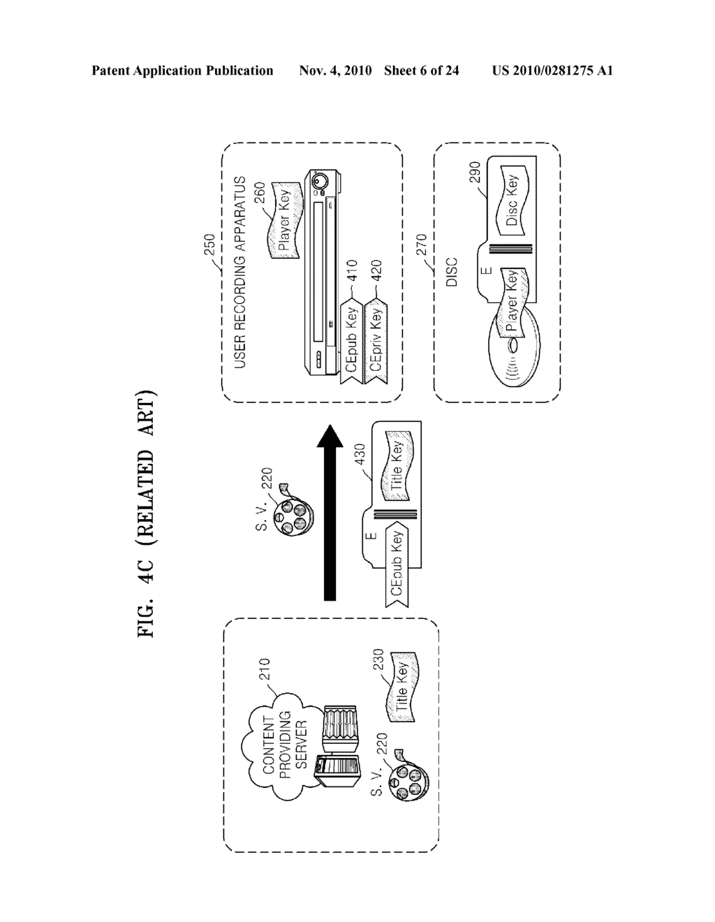 METHOD OF RECORDING CONTENT ON DISC, METHOD OF PROVIDING TITLE KEY, APPARATUS FOR RECORDING CONTENT ON DISC, AND CONTENT PROVIDING SERVER - diagram, schematic, and image 07