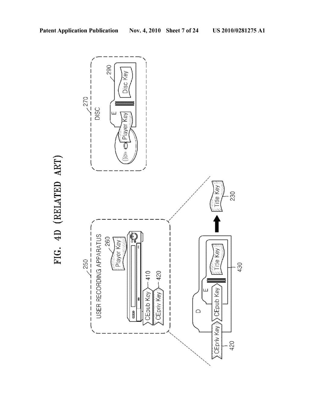 METHOD OF RECORDING CONTENT ON DISC, METHOD OF PROVIDING TITLE KEY, APPARATUS FOR RECORDING CONTENT ON DISC, AND CONTENT PROVIDING SERVER - diagram, schematic, and image 08