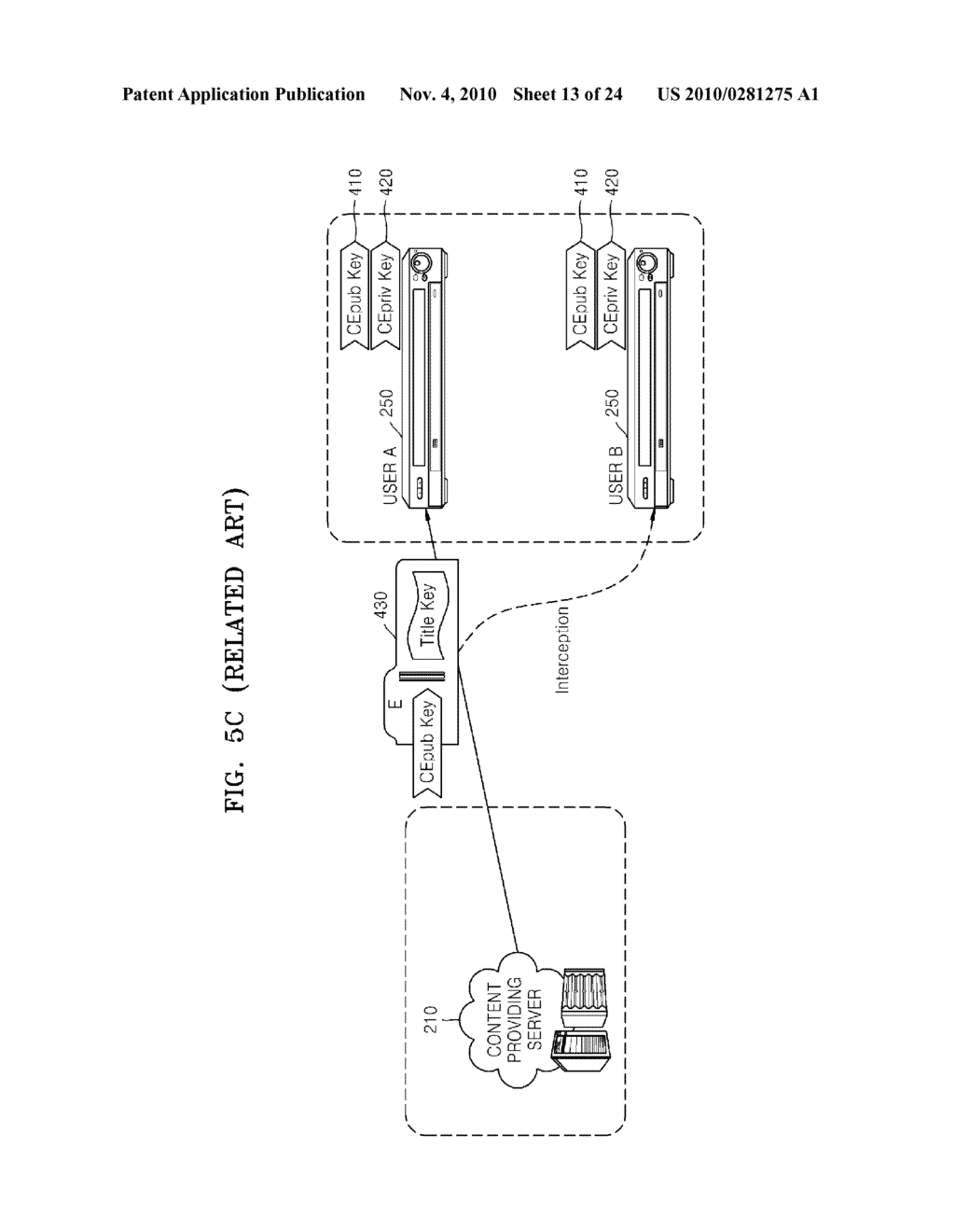 METHOD OF RECORDING CONTENT ON DISC, METHOD OF PROVIDING TITLE KEY, APPARATUS FOR RECORDING CONTENT ON DISC, AND CONTENT PROVIDING SERVER - diagram, schematic, and image 14