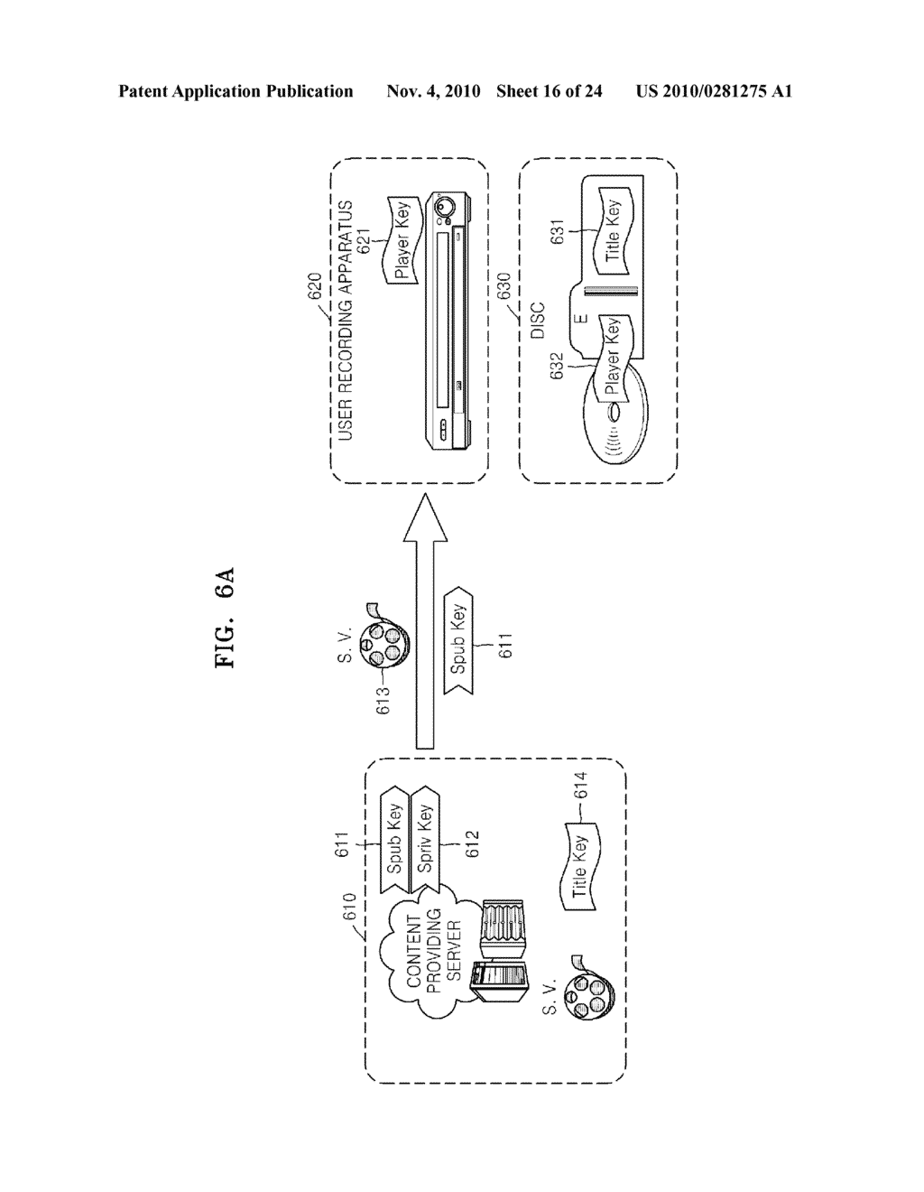 METHOD OF RECORDING CONTENT ON DISC, METHOD OF PROVIDING TITLE KEY, APPARATUS FOR RECORDING CONTENT ON DISC, AND CONTENT PROVIDING SERVER - diagram, schematic, and image 17
