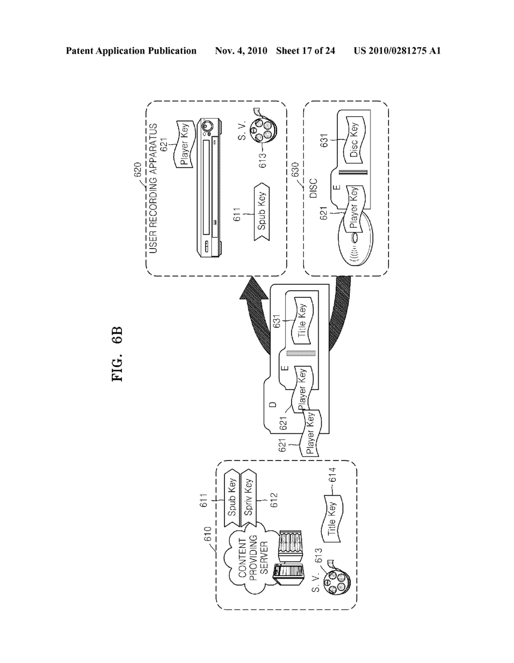 METHOD OF RECORDING CONTENT ON DISC, METHOD OF PROVIDING TITLE KEY, APPARATUS FOR RECORDING CONTENT ON DISC, AND CONTENT PROVIDING SERVER - diagram, schematic, and image 18