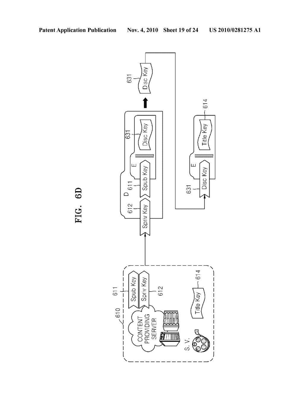 METHOD OF RECORDING CONTENT ON DISC, METHOD OF PROVIDING TITLE KEY, APPARATUS FOR RECORDING CONTENT ON DISC, AND CONTENT PROVIDING SERVER - diagram, schematic, and image 20