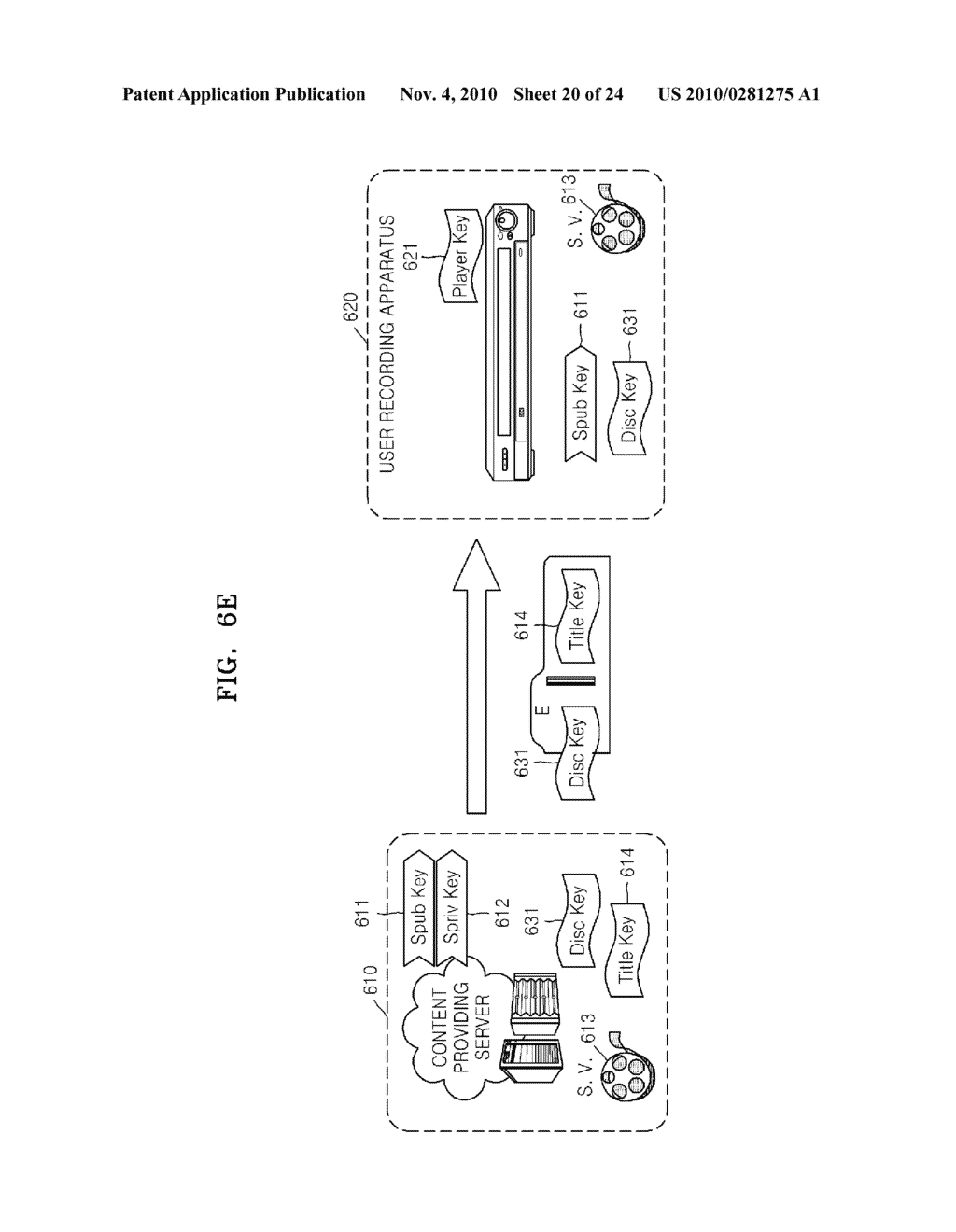 METHOD OF RECORDING CONTENT ON DISC, METHOD OF PROVIDING TITLE KEY, APPARATUS FOR RECORDING CONTENT ON DISC, AND CONTENT PROVIDING SERVER - diagram, schematic, and image 21
