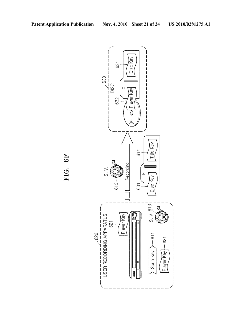 METHOD OF RECORDING CONTENT ON DISC, METHOD OF PROVIDING TITLE KEY, APPARATUS FOR RECORDING CONTENT ON DISC, AND CONTENT PROVIDING SERVER - diagram, schematic, and image 22