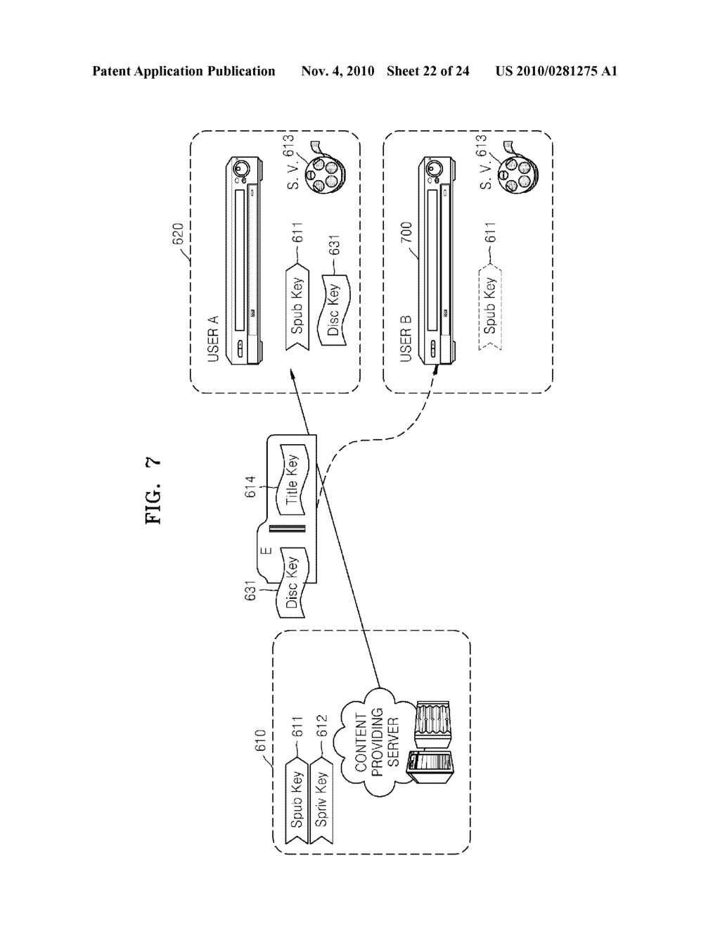 METHOD OF RECORDING CONTENT ON DISC, METHOD OF PROVIDING TITLE KEY, APPARATUS FOR RECORDING CONTENT ON DISC, AND CONTENT PROVIDING SERVER - diagram, schematic, and image 23