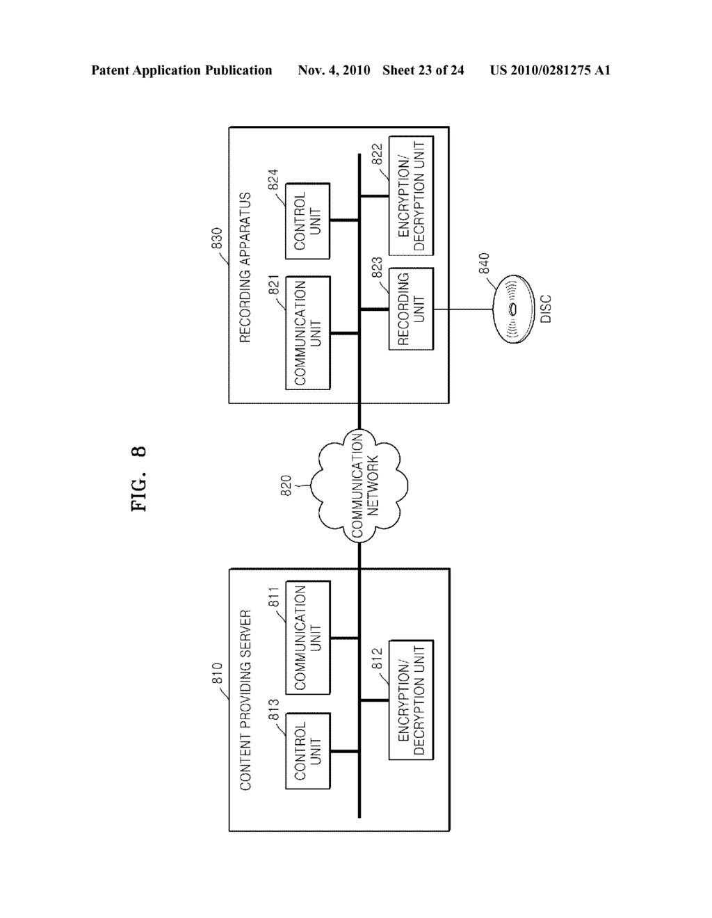 METHOD OF RECORDING CONTENT ON DISC, METHOD OF PROVIDING TITLE KEY, APPARATUS FOR RECORDING CONTENT ON DISC, AND CONTENT PROVIDING SERVER - diagram, schematic, and image 24