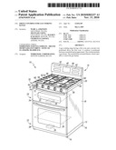 FRONT CONTROLS FOR GAS COOKING RANGE diagram and image