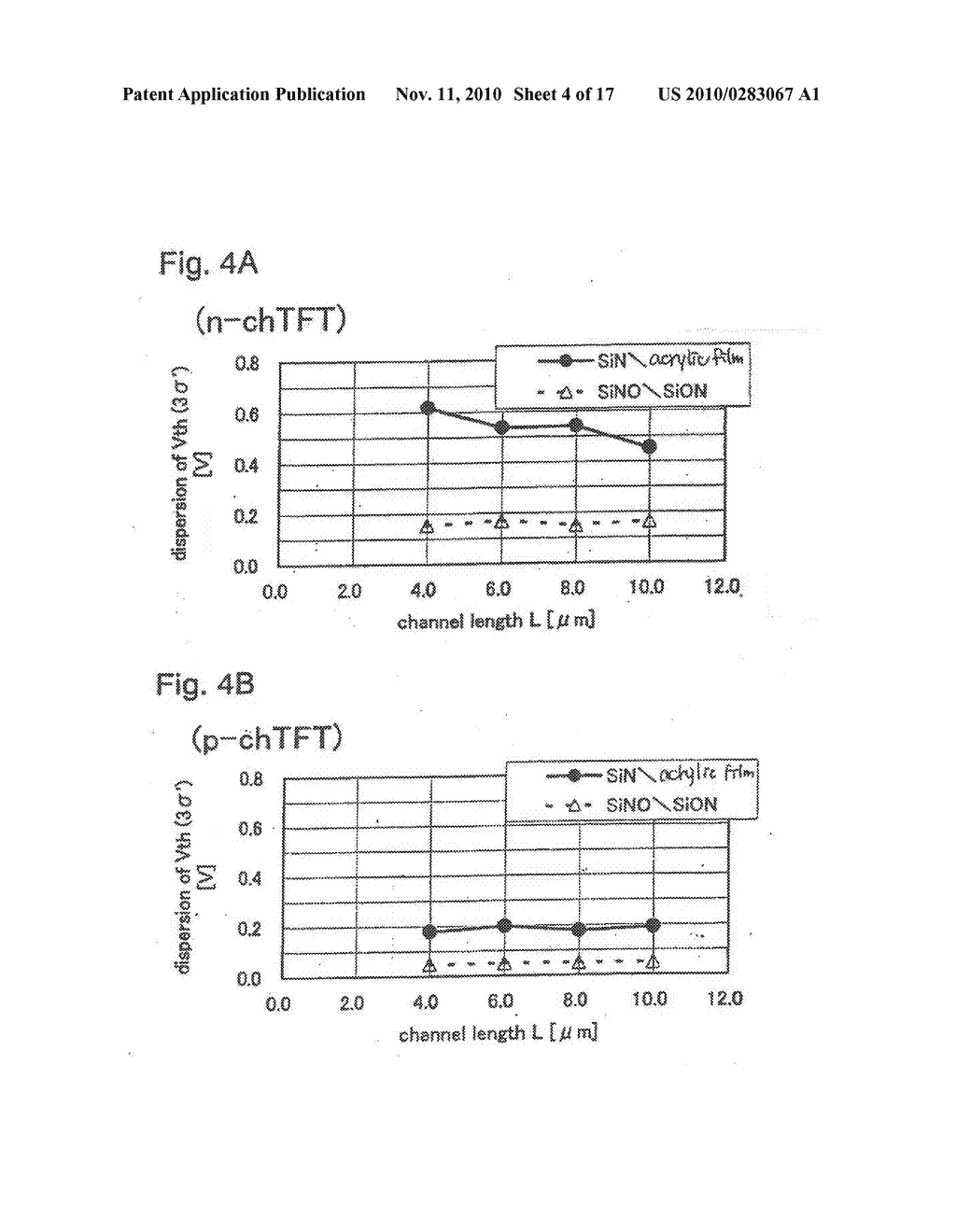SEMICONDUCTOR ELEMENT AND DISPLAY DEVICE USING THE SAME - diagram, schematic, and image 05