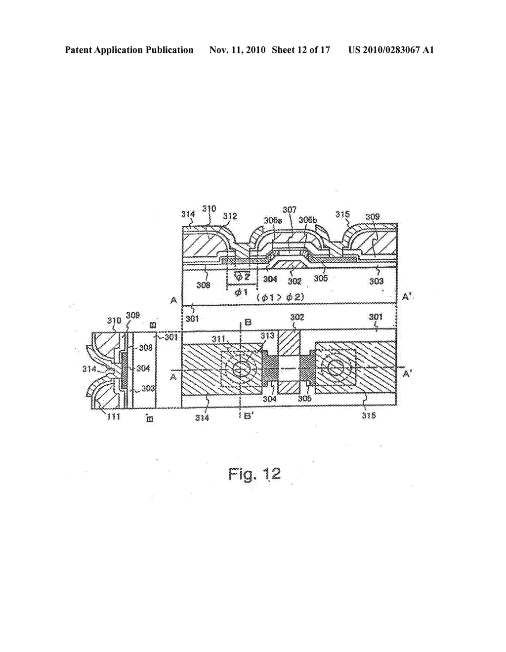 SEMICONDUCTOR ELEMENT AND DISPLAY DEVICE USING THE SAME - diagram, schematic, and image 13
