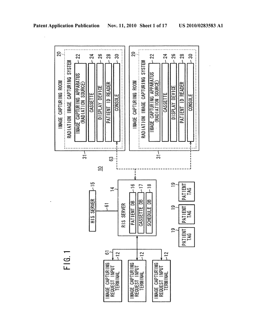 Radiation image capturing method, radiation image capturing system and radiation information system for carrying out radiation image capturing method - diagram, schematic, and image 02