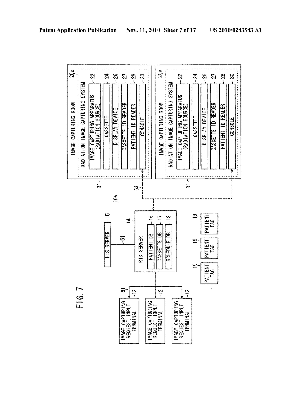 Radiation image capturing method, radiation image capturing system and radiation information system for carrying out radiation image capturing method - diagram, schematic, and image 08