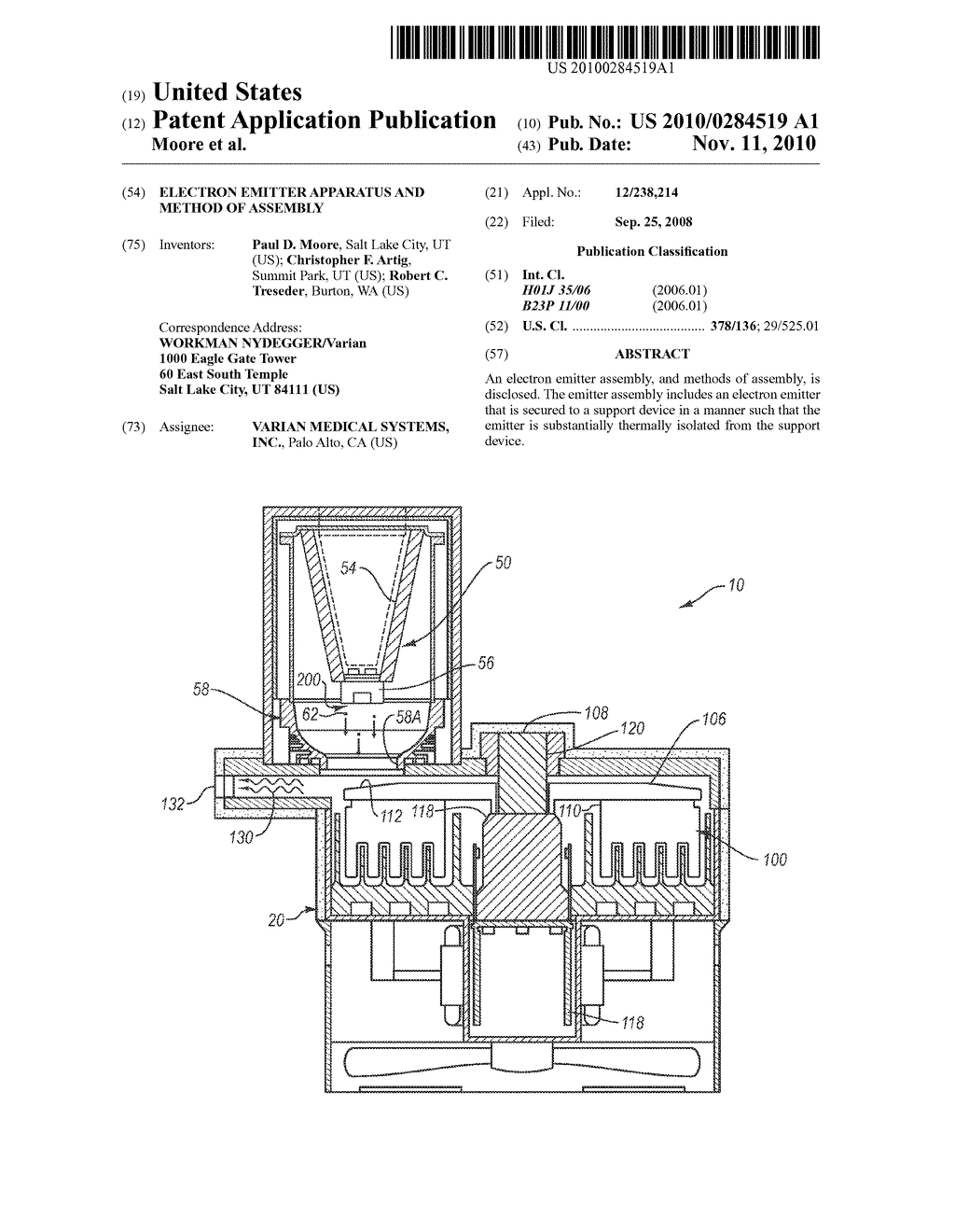 Electron Emitter Apparatus and Method of Assembly - diagram, schematic, and image 01