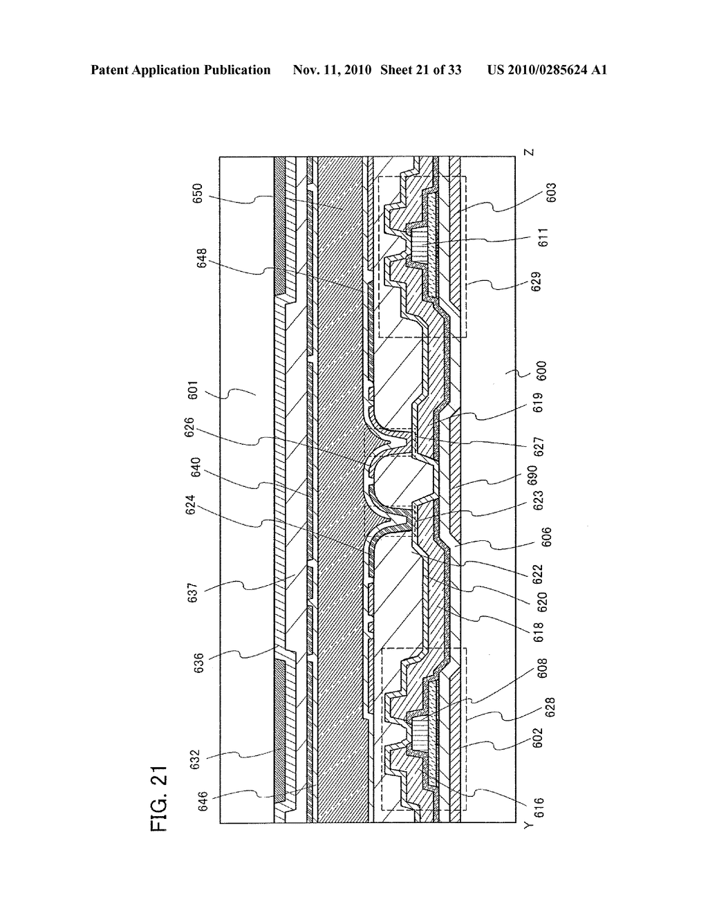 DISPLAY DEVICE AND MANUFACTURING METHOD OF THE SAME - diagram, schematic, and image 22