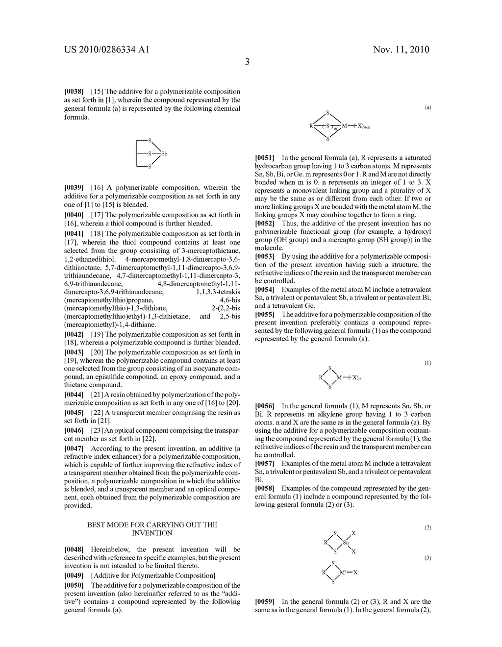 ADDITIVE FOR POLYMERIZABLE COMPOSITION, POLYMERIZABLE COMPOSITION CONTAINING THE SAME AND USE OF THE POLYMERIZABLE COMPOSITION - diagram, schematic, and image 04