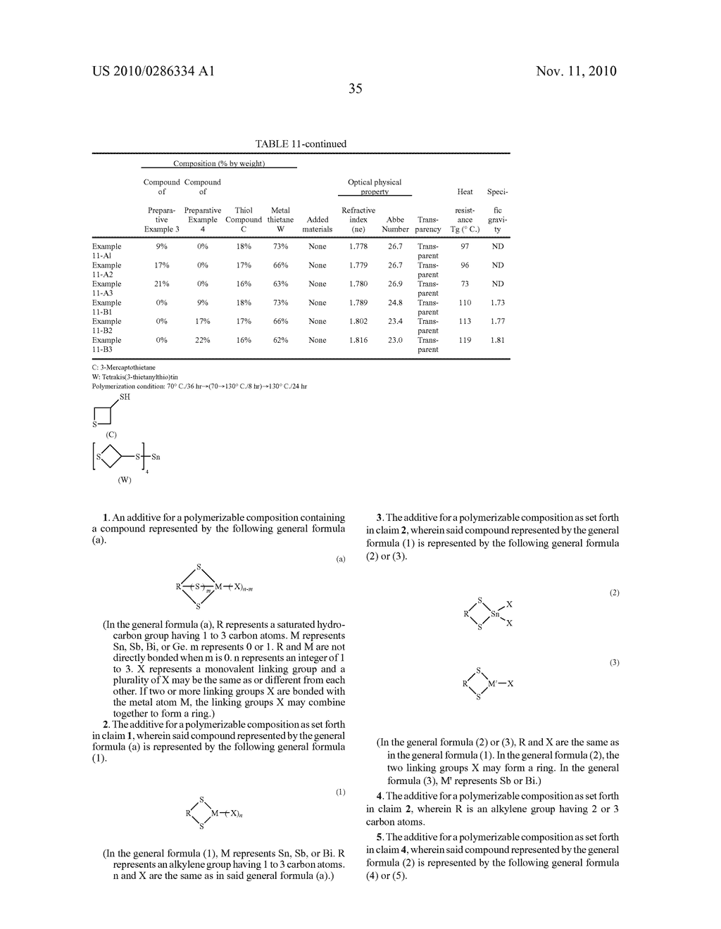 ADDITIVE FOR POLYMERIZABLE COMPOSITION, POLYMERIZABLE COMPOSITION CONTAINING THE SAME AND USE OF THE POLYMERIZABLE COMPOSITION - diagram, schematic, and image 36