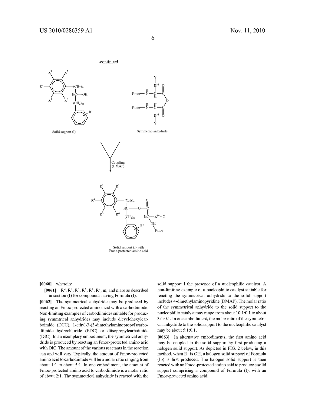 Solid Support for FMOC-Solid Phase Synthesis of Peptide Acids - diagram, schematic, and image 07