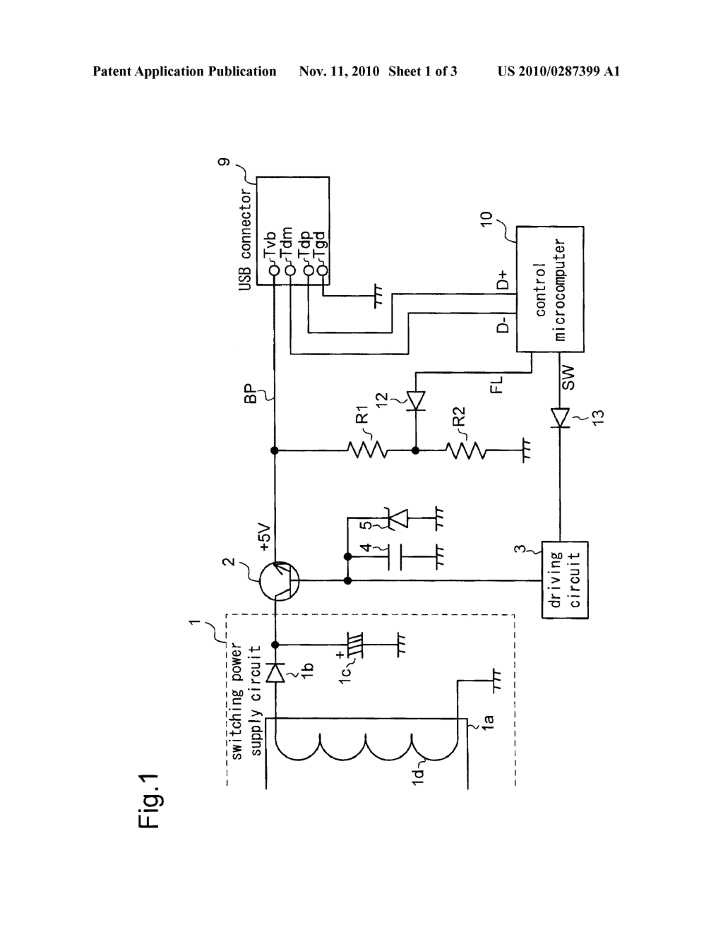 usb power supply circuit diagram schematic and image 02 rh patentsencyclopedia com 5v usb power supply circuit 5v usb power supply circuit