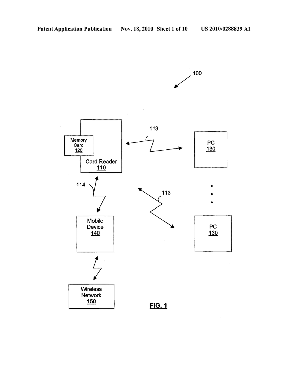 METHOD, SYSTEM AND SMART CARD READER FOR MANAGEMENT OF ACCESS TO A SMART CARD - diagram, schematic, and image 02