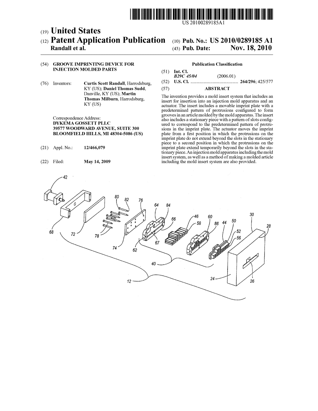 GROOVE IMPRINTING DEVICE FOR INJECTION MOLDED PARTS - diagram, schematic, and image 01