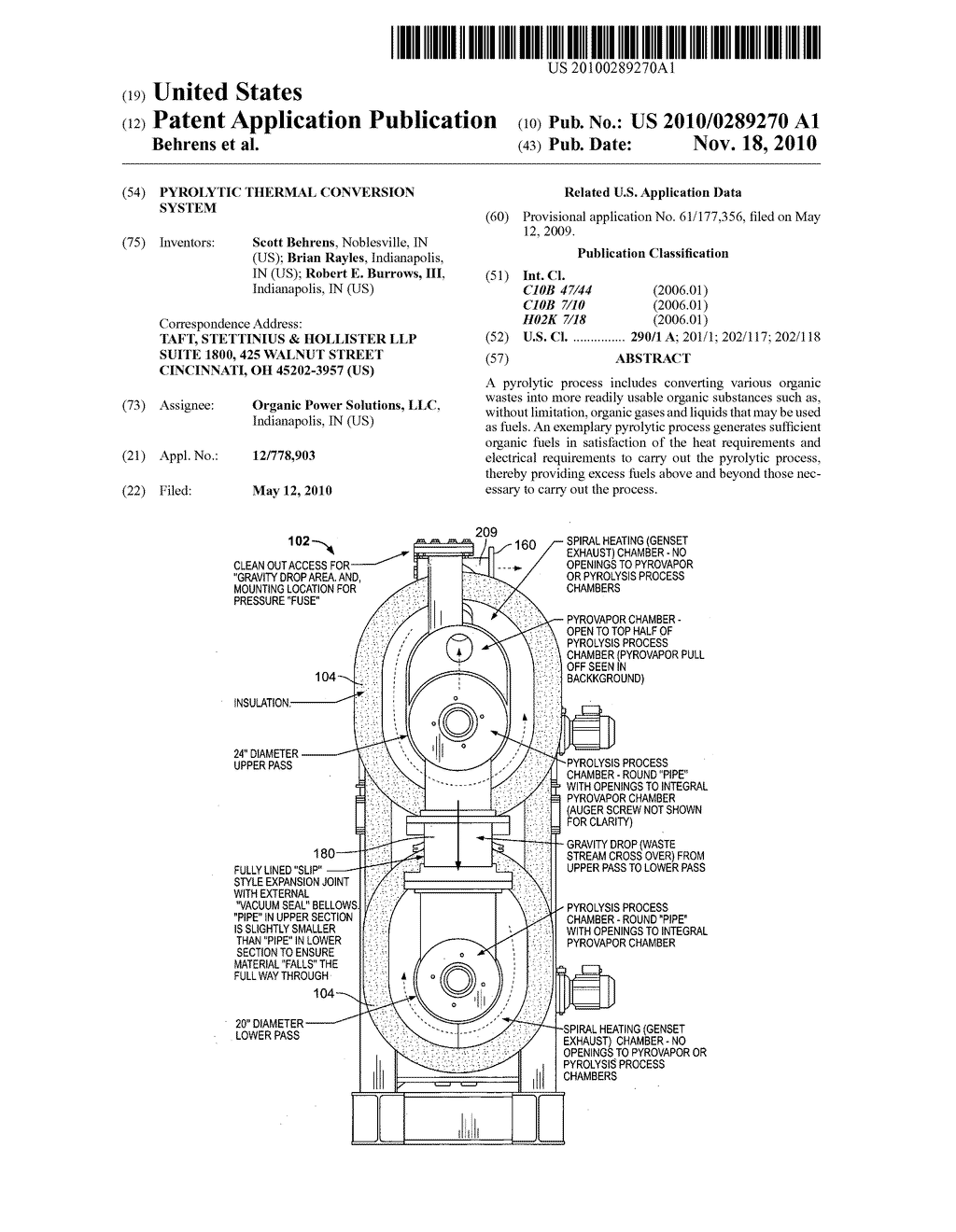PYROLYTIC THERMAL CONVERSION SYSTEM - diagram, schematic, and image 01