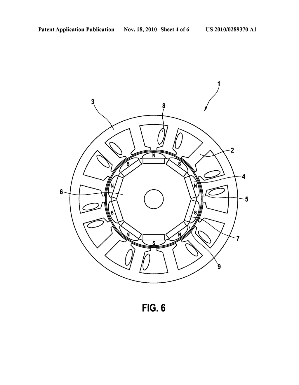 SYNCHRONOUS MOTOR HAVING 12 STATOR TEETH AND 10 ROTOR POLES
