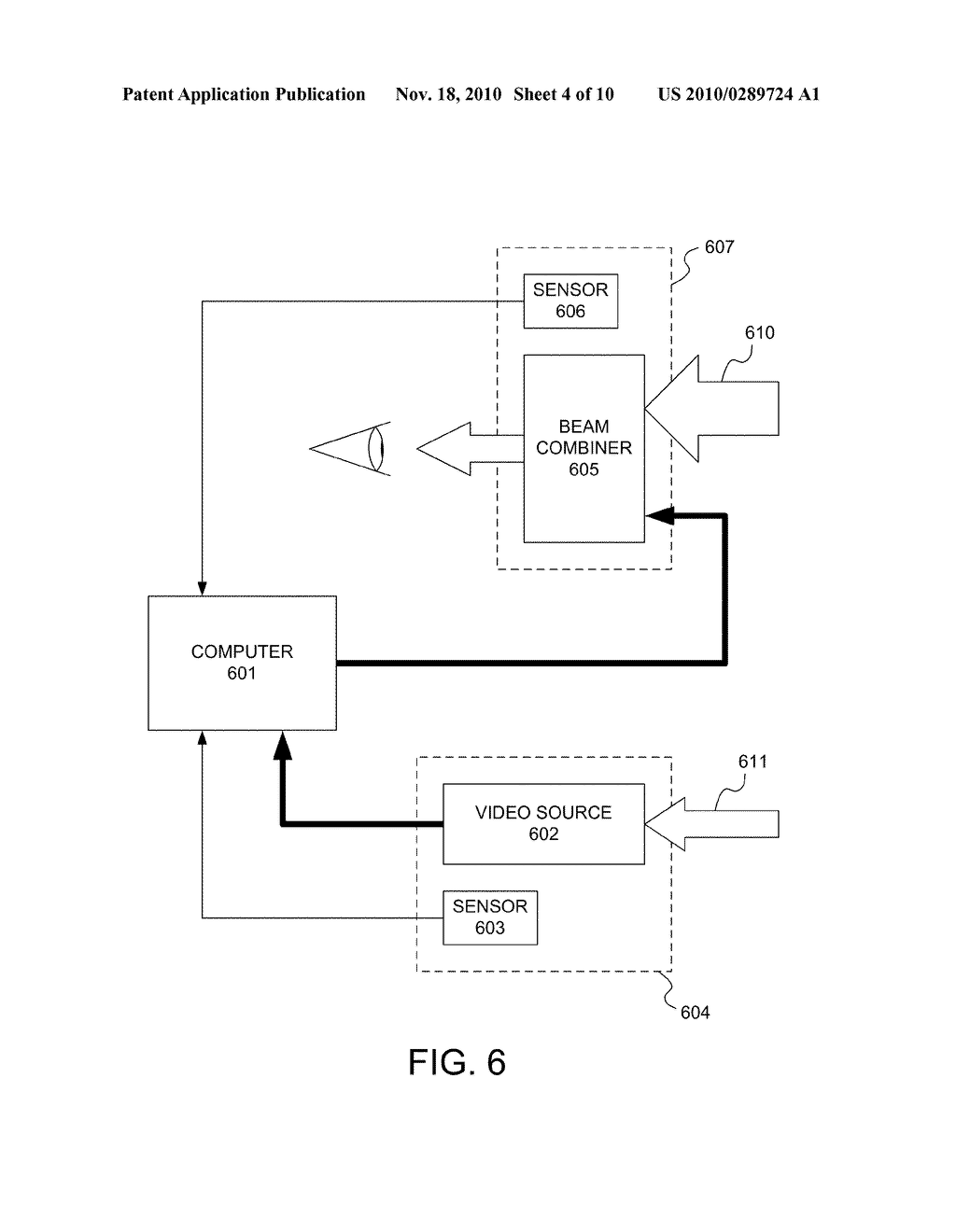 System and Method for Video Image Registration in a Heads Up Display - diagram, schematic, and image 05