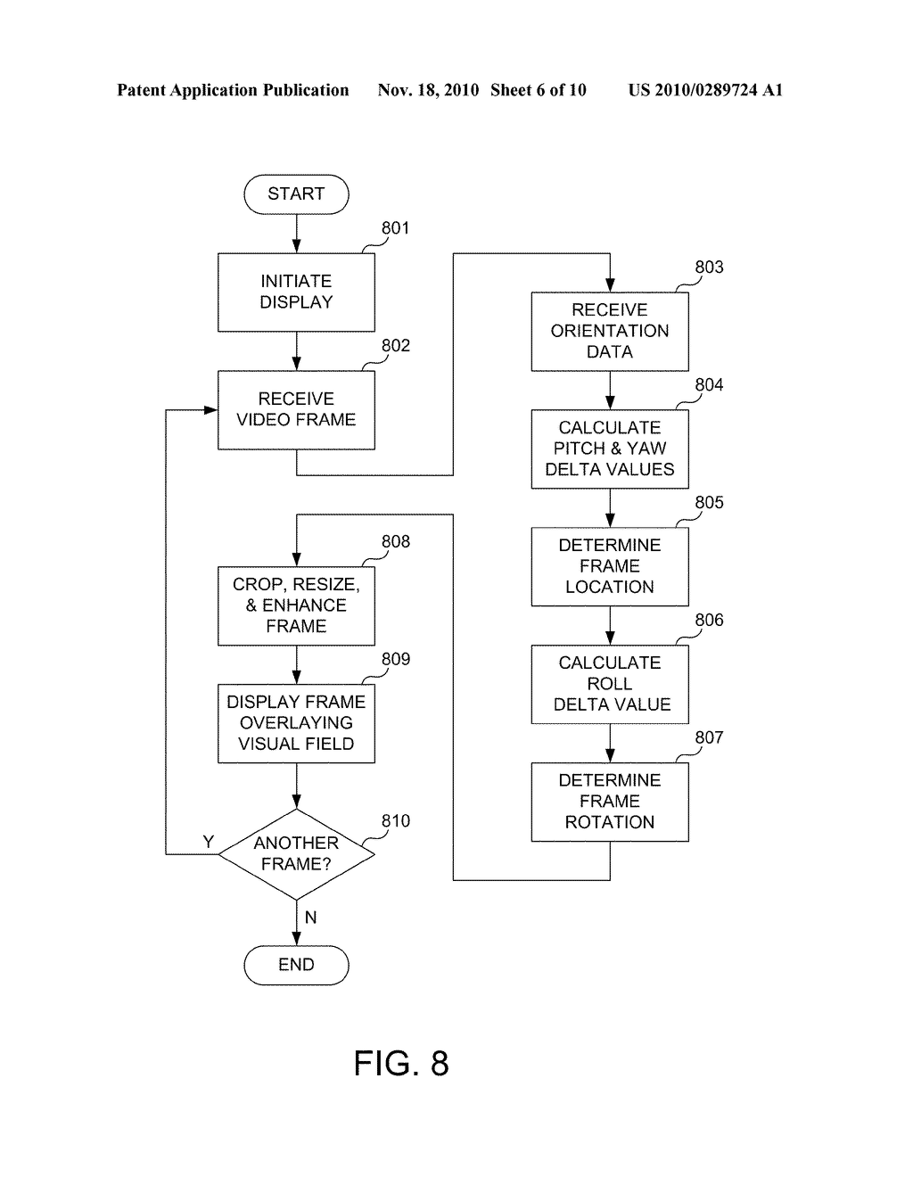 System and Method for Video Image Registration in a Heads Up Display - diagram, schematic, and image 07