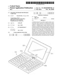 FOLDABLE KEYBOARD FOR PORTABlE COMPUTER diagram and image
