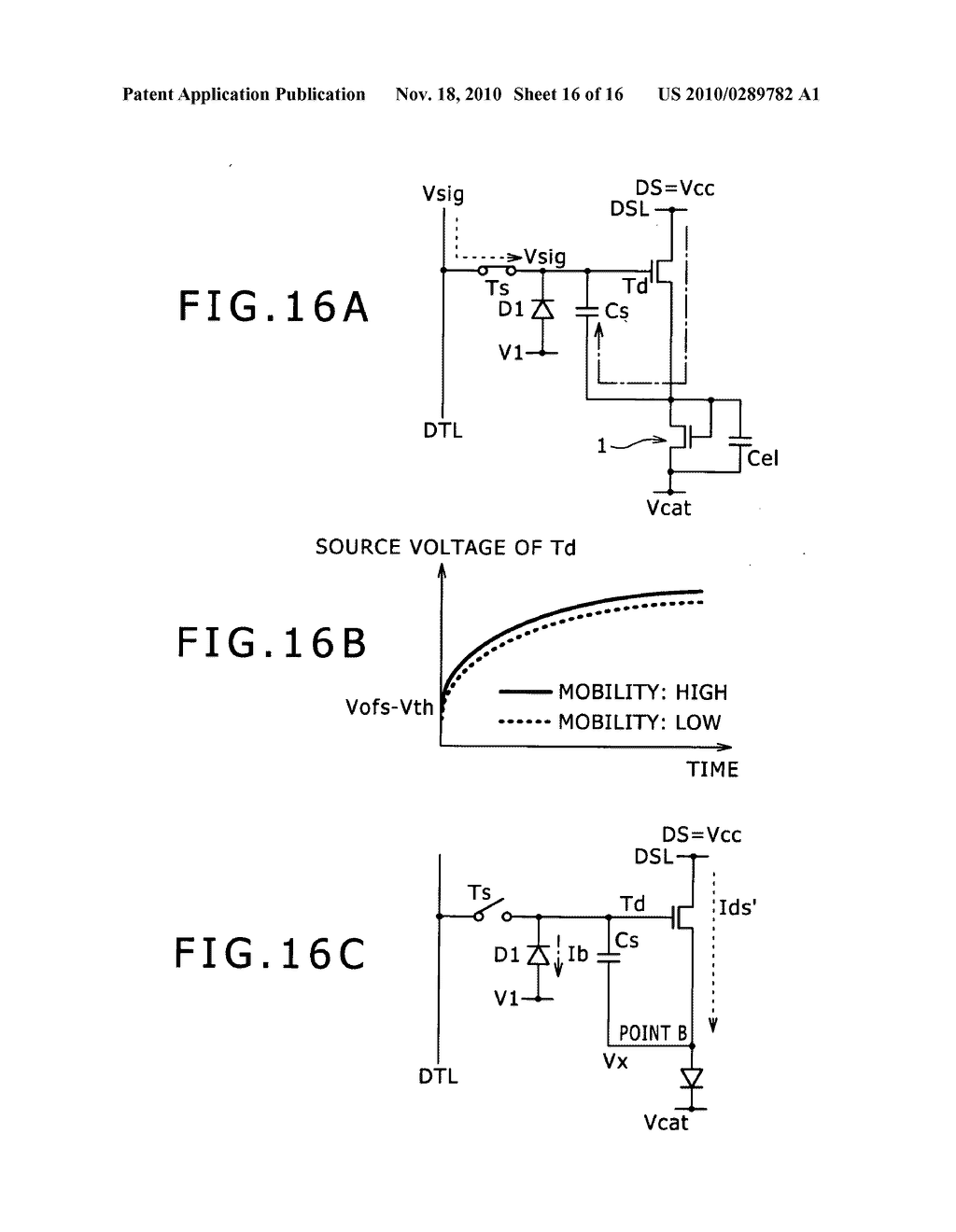 Pixel circuit, display apparatus, and driving method for pixel circuit - diagram, schematic, and image 17