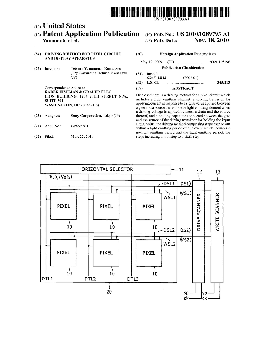 Driving method for pixel circuit and display apparatus - diagram, schematic, and image 01