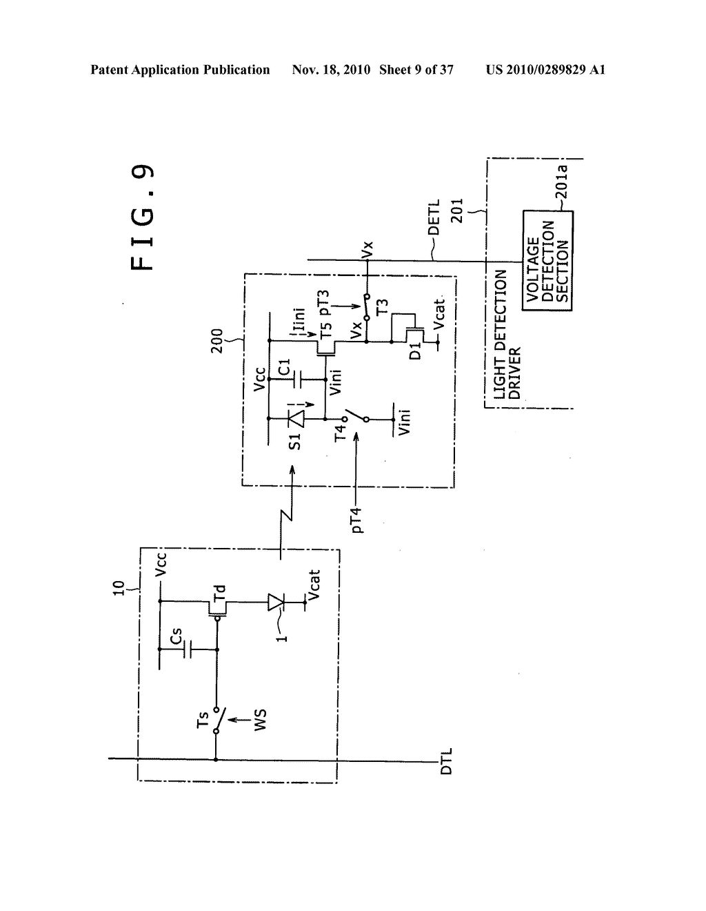 Display apparatus, light detection method and electronic apparatus - diagram, schematic, and image 10