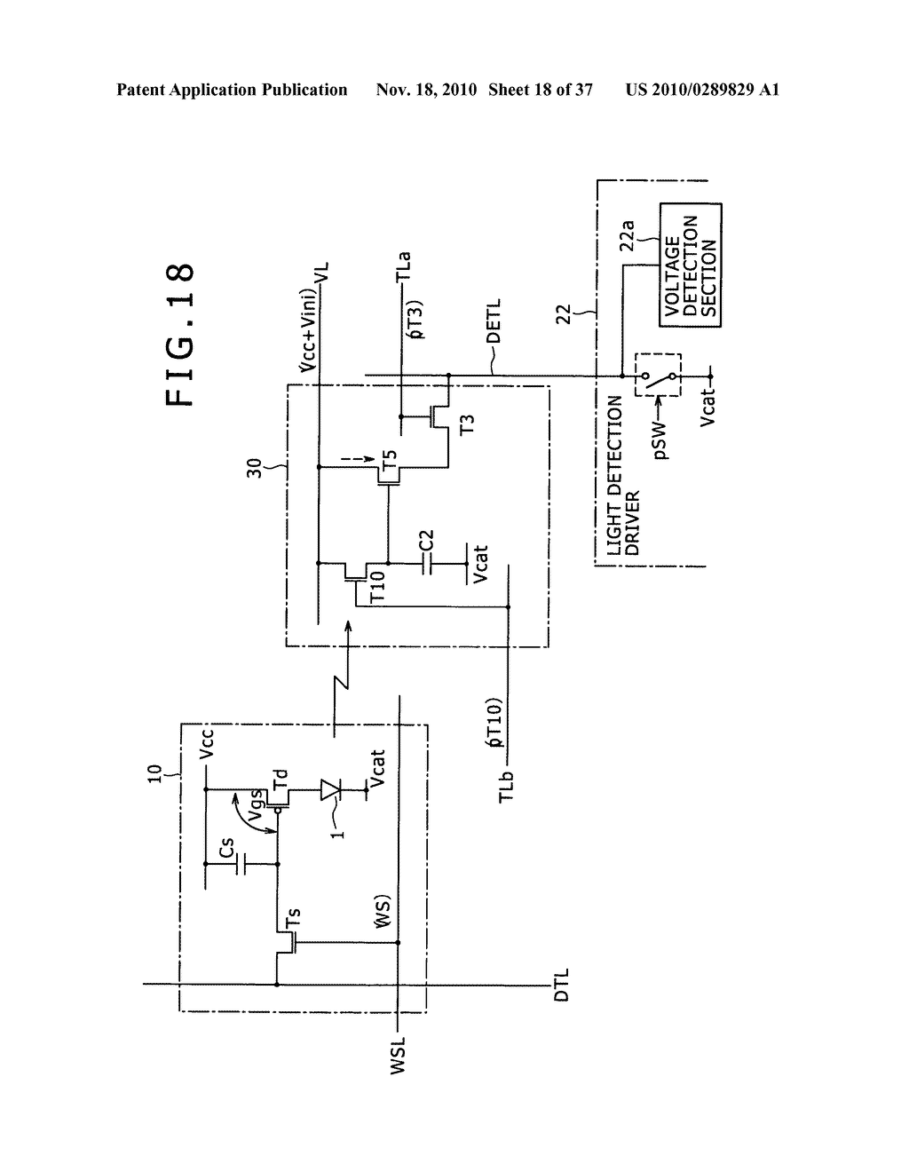Display apparatus, light detection method and electronic apparatus - diagram, schematic, and image 19