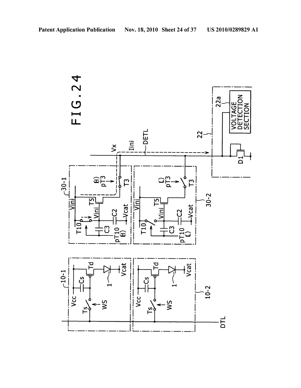 Display apparatus, light detection method and electronic apparatus - diagram, schematic, and image 25