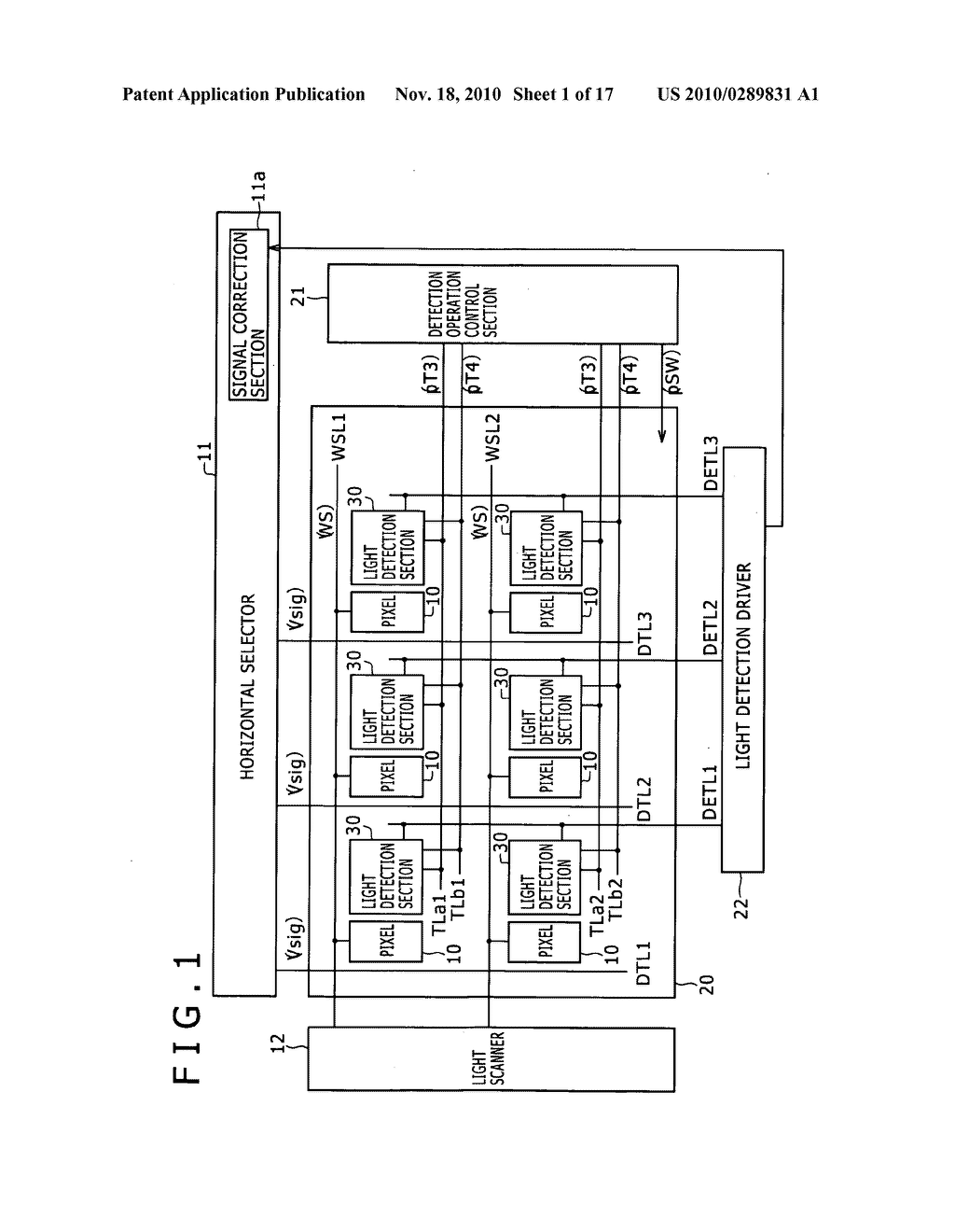 Display apparatus, method for controlling light detection operation - diagram, schematic, and image 02