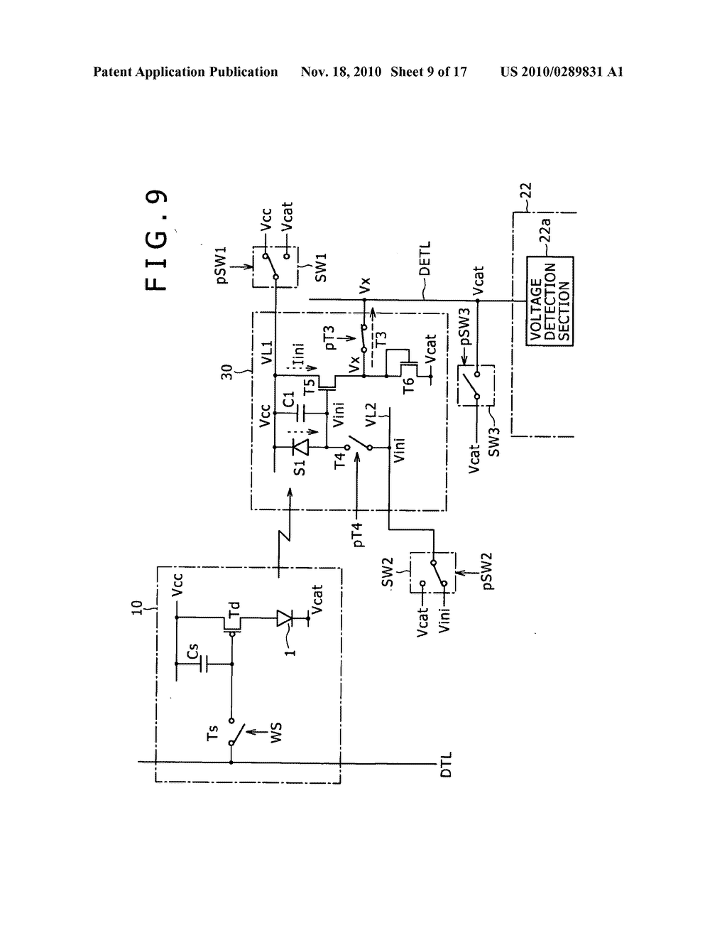 Display apparatus, method for controlling light detection operation - diagram, schematic, and image 10