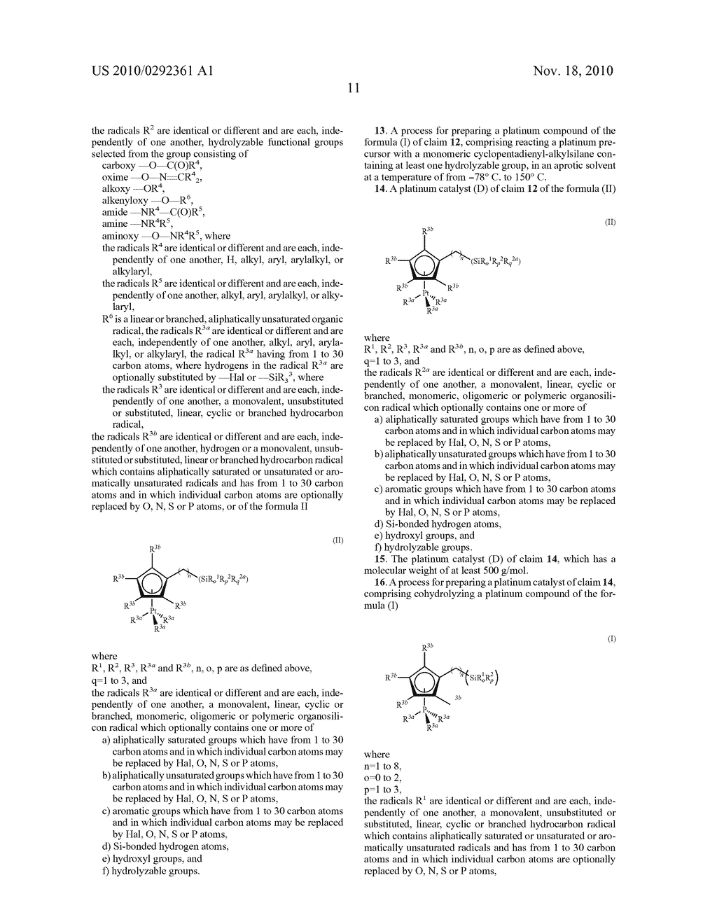 HYDROSILYLATION REACTIONS ACTIVATED THROUGH RADIATION - diagram, schematic, and image 12