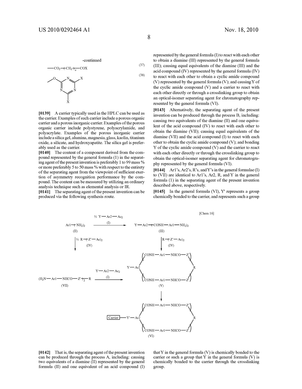 OPTICAL-ISOMER SEPARATING AGENT FOR CHROMATOGRAPHY AND PROCESS FOR PRODUCING THE SAME - diagram, schematic, and image 52