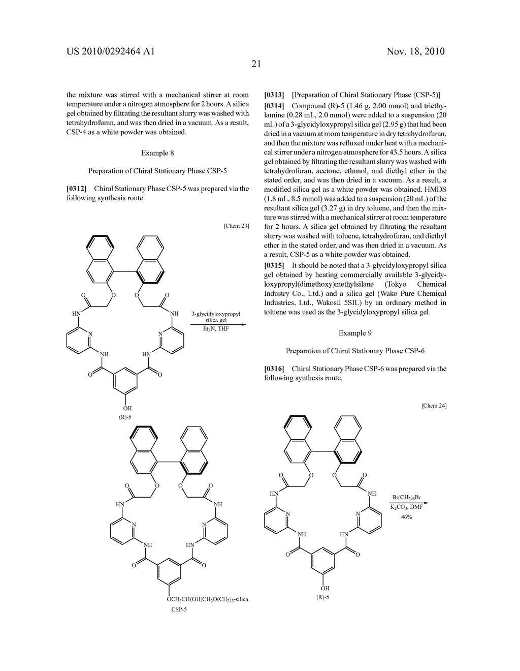 OPTICAL-ISOMER SEPARATING AGENT FOR CHROMATOGRAPHY AND PROCESS FOR PRODUCING THE SAME - diagram, schematic, and image 65