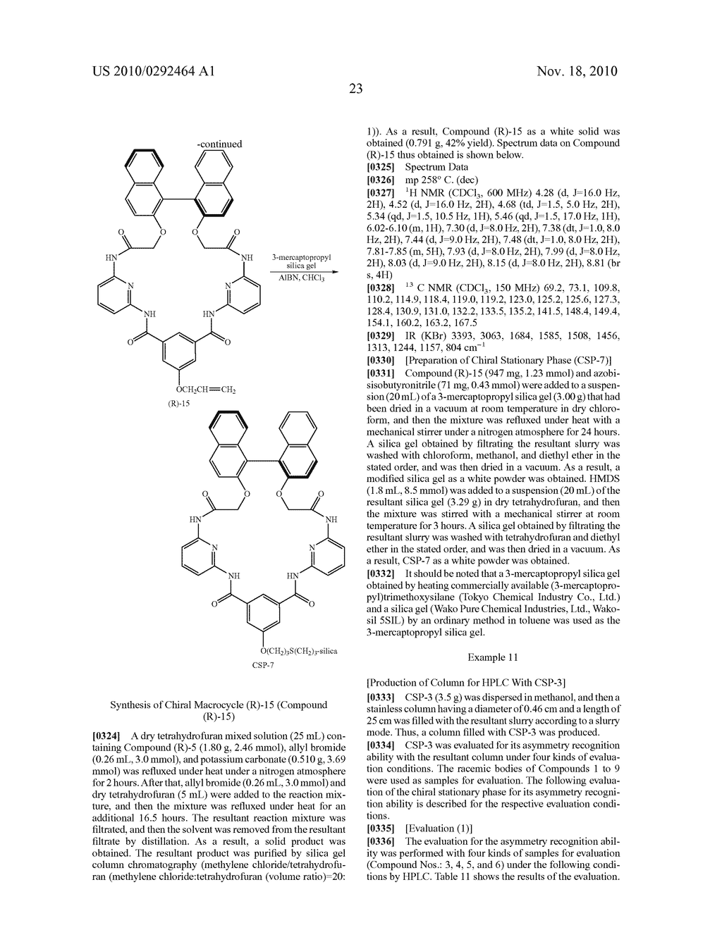 OPTICAL-ISOMER SEPARATING AGENT FOR CHROMATOGRAPHY AND PROCESS FOR PRODUCING THE SAME - diagram, schematic, and image 67