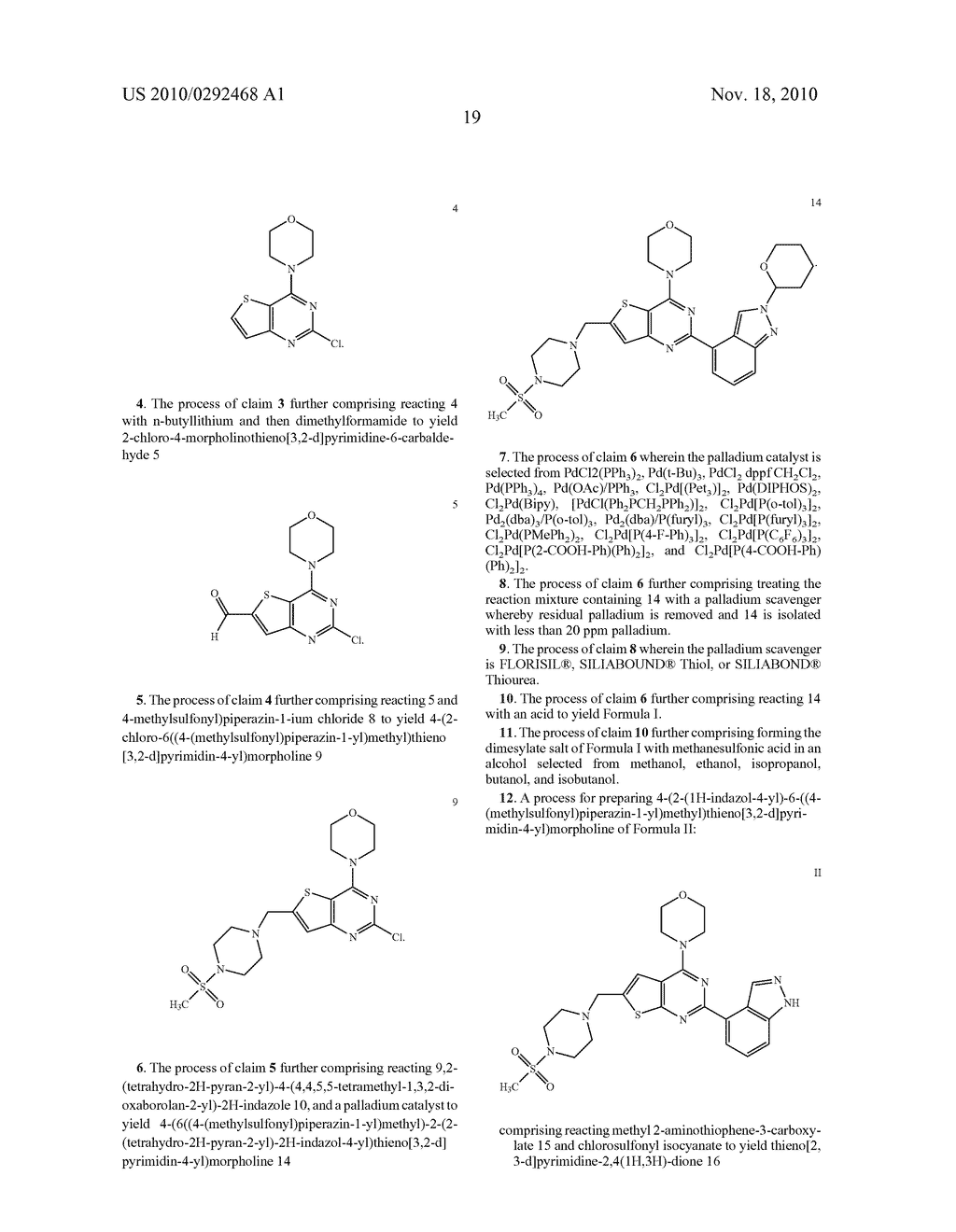 PROCESS FOR MAKING THIENOPYRIMIDINE COMPOUNDS - diagram, schematic, and image 20