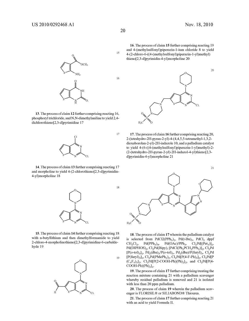 PROCESS FOR MAKING THIENOPYRIMIDINE COMPOUNDS - diagram, schematic, and image 21
