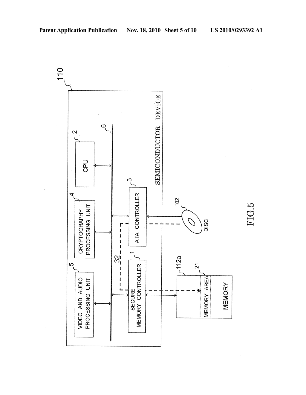 SEMICONDUCTOR DEVICE HAVING SECURE MEMORY CONTROLLER - diagram, schematic, and image 06