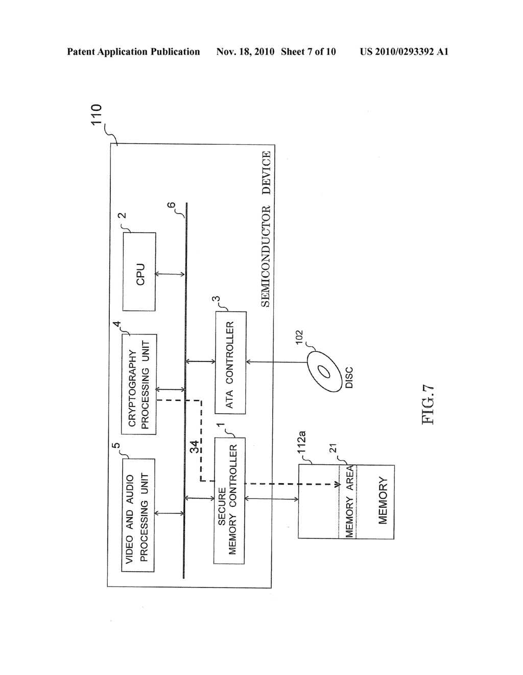 SEMICONDUCTOR DEVICE HAVING SECURE MEMORY CONTROLLER - diagram, schematic, and image 08