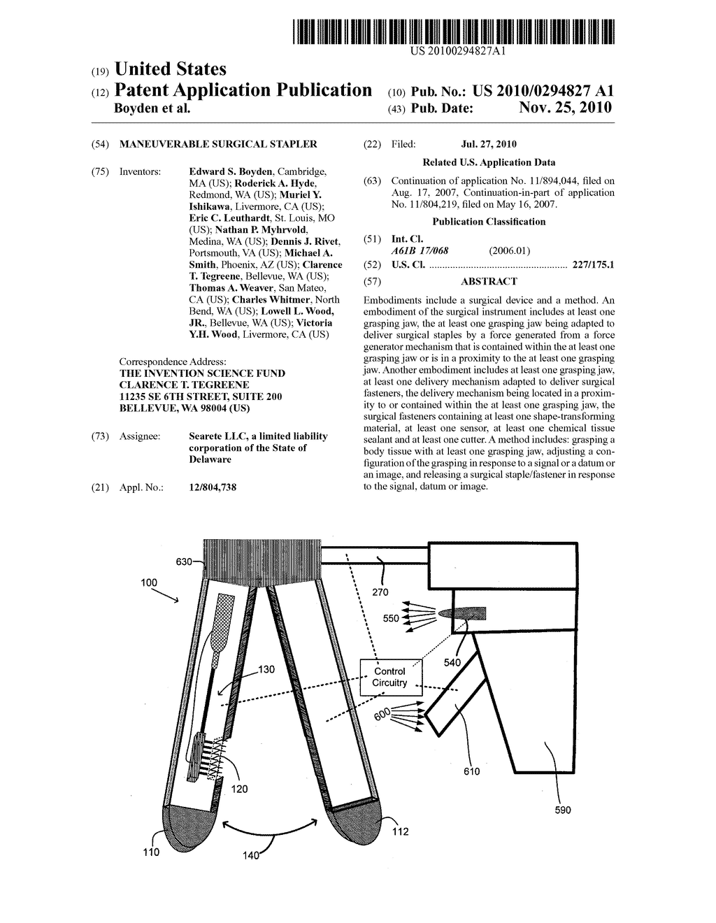 Maneuverable surgical stapler - diagram, schematic, and image 01