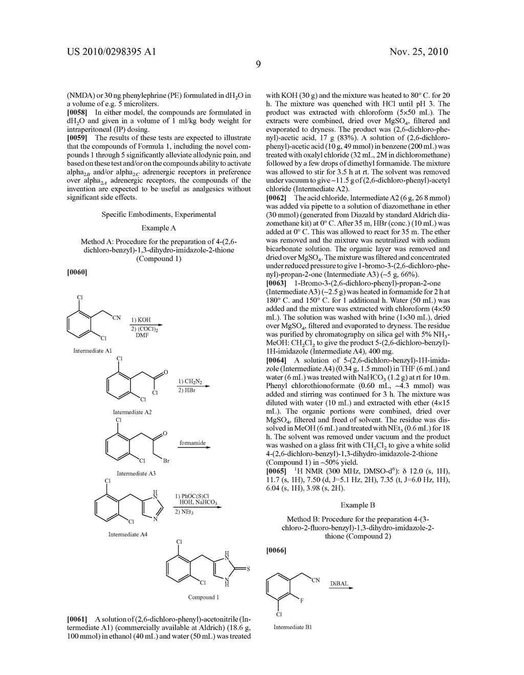 UNSUBSTITUTED AND SUBSTITUTED 4-BENZYL-1,3-DIHYDRO-IMIDAZOLE-2-THIONES ACTING AS SPECIFIC OR SELECTIVE ALPHA2 ADRENERGIC AGONISTS AND METHODS FOR USING THE SAME - diagram, schematic, and image 10